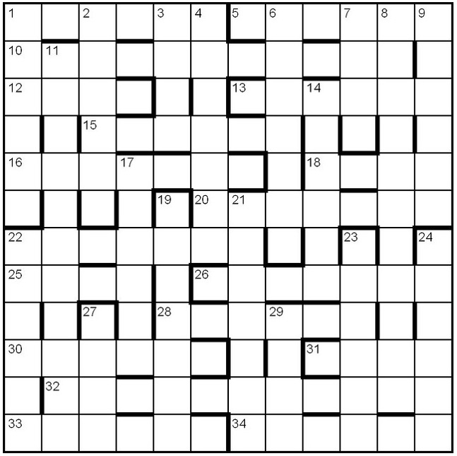 barred grid crossword puzzle grid