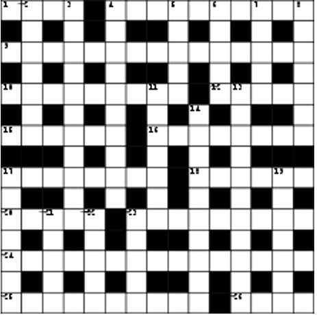 U.K. style crossword puzzle