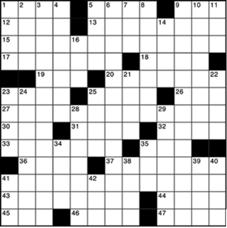U.S. style crossword puzzle